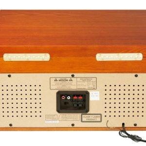 Ricatech 6 In 1 Nostalginen Musiikkikeskus Puurungolla Vaaleanruskea