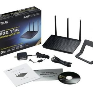 Router Asus RT-AC66U 802.11ac Dual-Band Wireless-AC1750 Gigabit Router