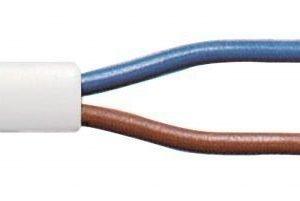 Sähköjohto2 x 0.75 mm kelalla 100 m valkoinen