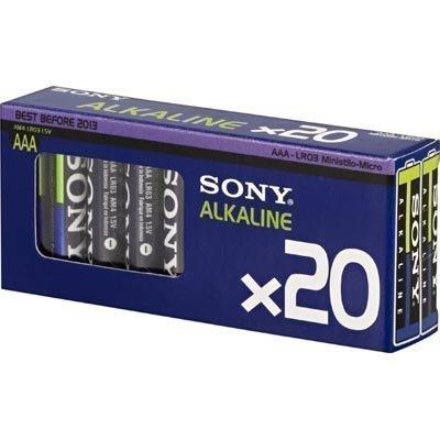 SONY Ecopack AAA-cell (LR03) paristo 1 5Volt 20-pakkaus