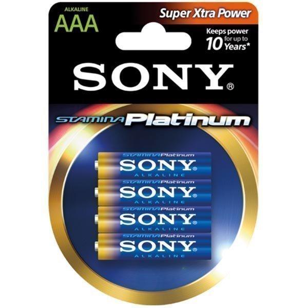 SONY Stamina Platinum LR03 / AAA alkaaliparistot 1 5V 4-pakkaus