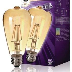 ST64 kultainen 400LM 827 LED-lamppu hehkulanka E27 4W