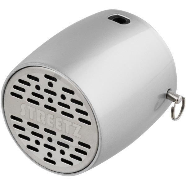 STREETZ Mini Bluetooth-kaiutin 300mAh Li-Ioni akku 3w hopea