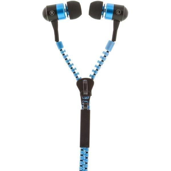 STREETZ Zippernappikuulokkeet mikrofoni vastauspainike 1 2m sininen