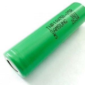 Samsung 18650 2500 mAh mAh Li-Mn akku ilman suojapiiriä - Jopa 20 A