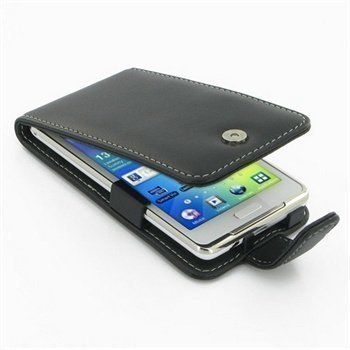 Samsung Galaxy S WiFi 4.2 PDair Leather Case Black