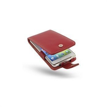 Samsung Galaxy S WiFi 4.2 PDair Leather Case Red