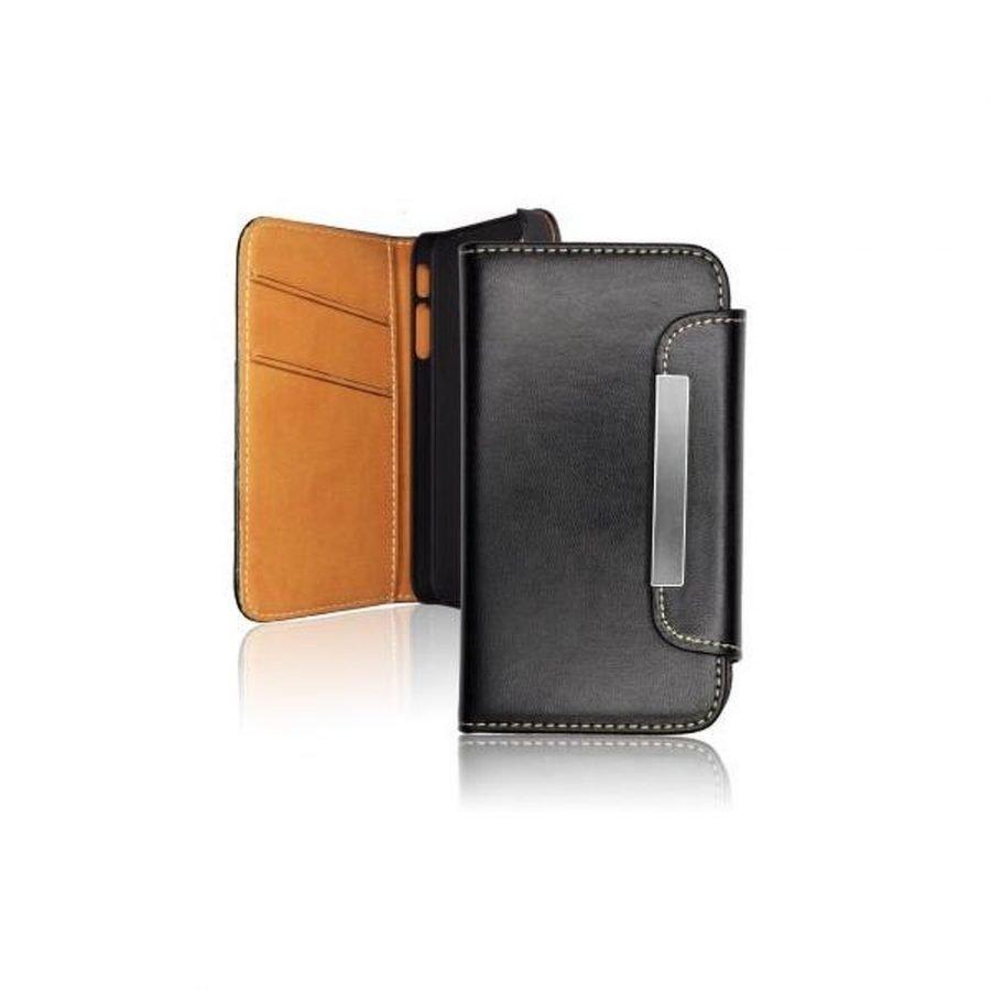 Samsung Galaxy S5 Lompakko magneettikiinnityksellä keinonahkainen suojakotelo - Musta