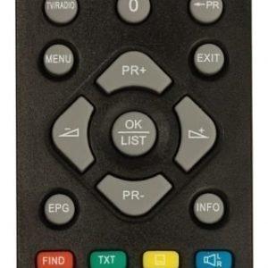Satelliittivastaanottimen DVB-T2 FTA10 kauko-ohjain
