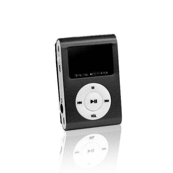 Setty MP3 Soitin LCD Näytöllä ja kuulokkeilla - Musta