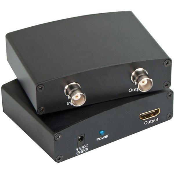 Siganaalinmuunin SDI - HDMI BNC SDI Loop Out musta