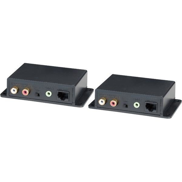 Signaalinvahvistin analog. ääni Cat5e kaapelissa 600m 3 5mm RCA