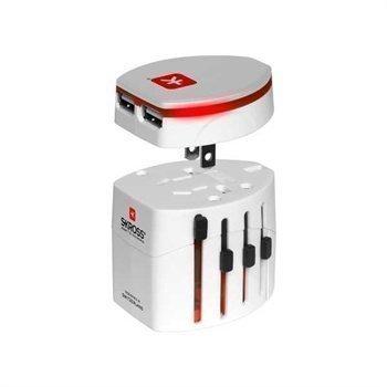 Skross USB World Adapter Evo White