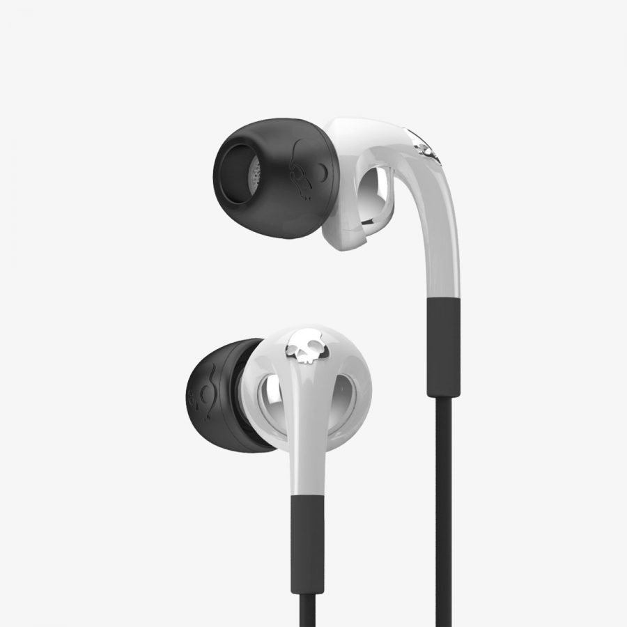 Skullcandy FIX IN EAR White/Chrome w/ Mic3 Nappikuuloke