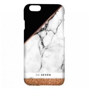 So Seven Marble Pink Gold Iphone 7 Matkapuhelimen Kuori