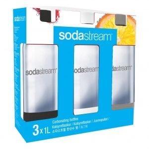 Sodastream 1 L Hiilihapotuspullot 3 Kpl