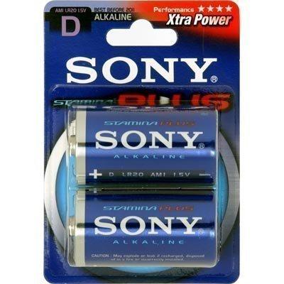 Sony D-cell (LR20) Stamina Plus paristo 1 5V 2-pakkaus