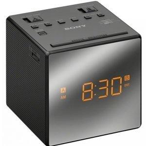 Sony Icfc1tb Kelloradio Musta