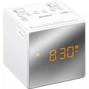 Sony Icfc1tw Kelloradio Valkoinen