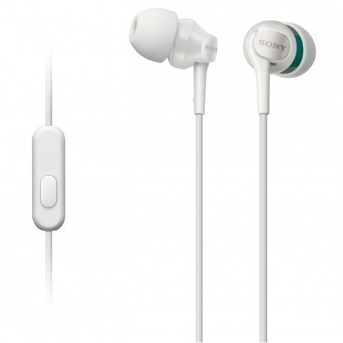 Sony MDR-EX100AP In-Ear with Mic1 White