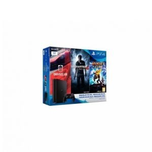 Sony Playstation 4 1 Tb + 3 Peliä