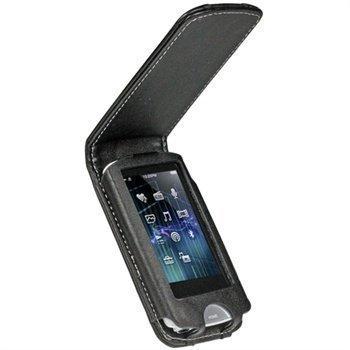 Sony Walkman NWZ-A765B NWZ-A765W iGadgitz Nahkainen Läppäkotelo Musta