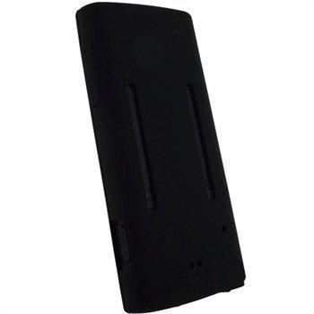 Sony Walkman NWZ-E450 iGadgitz Silikonikotelo Musta
