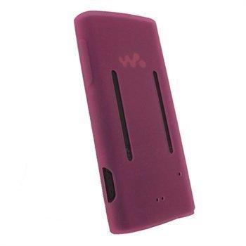Sony Walkman NWZ-E450 iGadgitz Silikonikotelo Pinkki