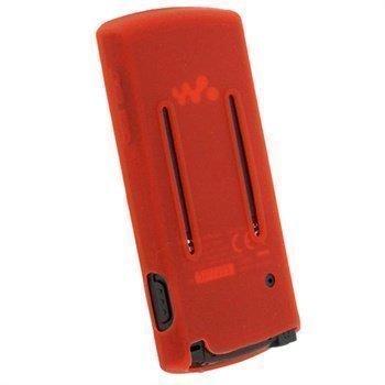 Sony Walkman NWZ-E463 NWZ-E464 iGadgitz Silikonikotelo Punainen