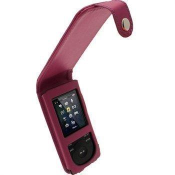 Sony Walkman NWZ-E473 NWZ-E474 iGadgitz Nahkainen Läppäkotelo Purppura