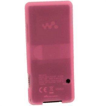 Sony Walkman NWZ-E473 NWZ-E474 iGadgitz Silikonikotelo Pinkki