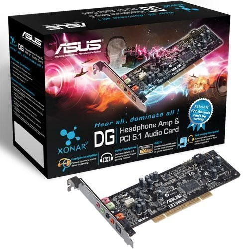 Soundcard-Intern Asus XONAR DG PCI 5.1 & headphone Amp Card