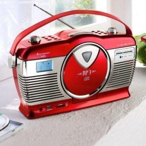 Soundmaster Retroradio Punainen