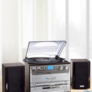 Soundmaster Stereo-Hifi-Soitin Hopeanvärinen / Metallinhohtoinen