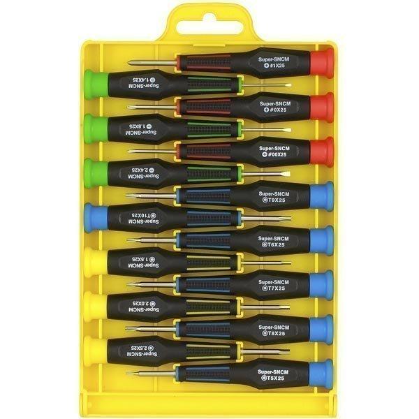 Sprotek STD-713 - tarkkuusruuvimeisselisarja 15 meisseliä