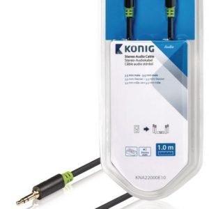 Stereo-audiokaapeli 3 5 mm:n urosliitin - urosliitin 1 00 m harmaa