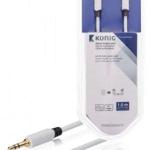 Stereo-audiokaapeli 3 5 mm:n urosliitin - urosliitin 1 00 m valkoinen