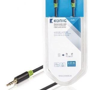 Stereo-audiokaapeli 3 5 mm:n urosliitin - urosliitin 2 00 m harmaa