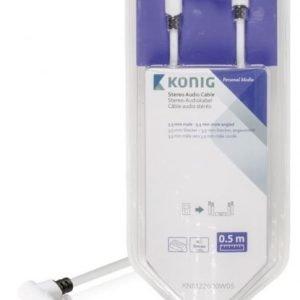 Stereo-audiokaapeli 3 5 mm:n urosliitin - urosliitin kulma 0 50 m valkoinen
