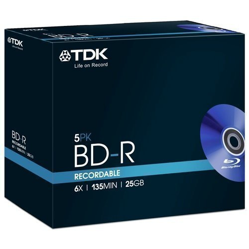 TDK Blu-ray BD-R 25GB 6X 5-pack