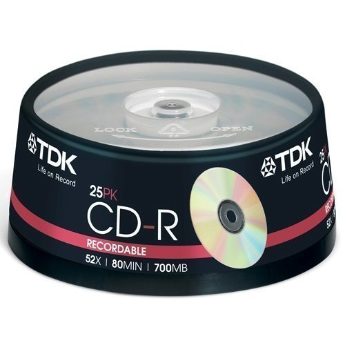 TDK CD-R 52x 80min 17000 25-pack
