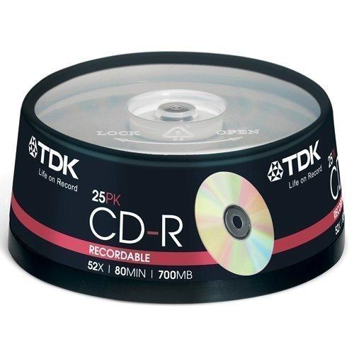 TDK CD-R 52x 80min 17000 25-pack