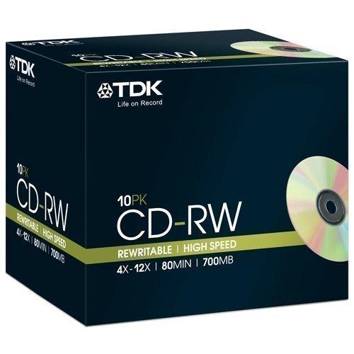 TDK CD-RW 4-12X 80min 18000 10-pack