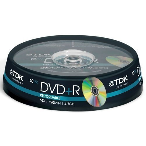 TDK DVD+R 4.7GB 10-pack