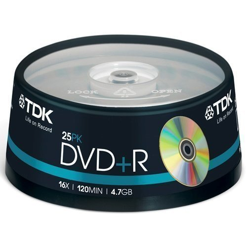 TDK DVD+R 4.7GB 25-pack