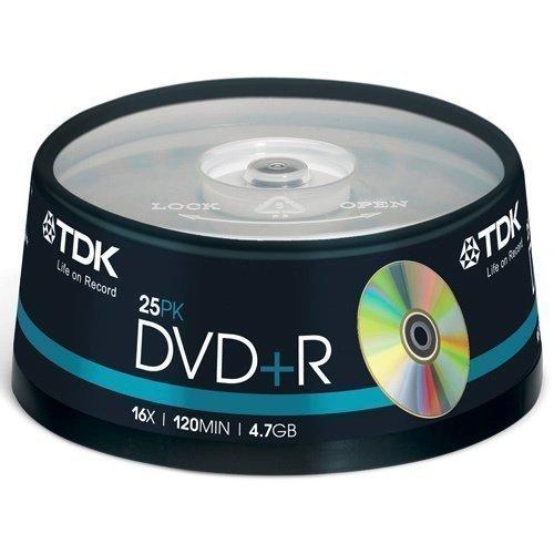 TDK DVD+R 4.7GB 25-pack