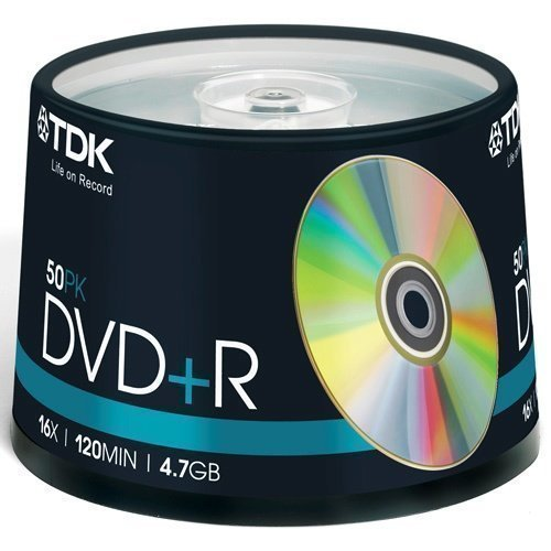 TDK DVD+R 4.7GB 50-pack