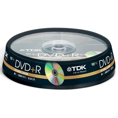 TDK DVD+R Double Layer 8.5GB 10-pack