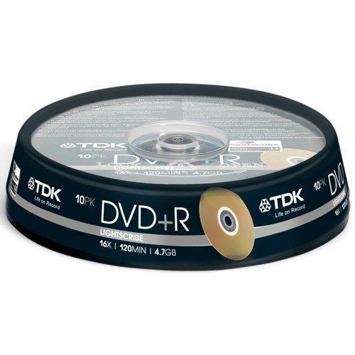 TDK DVD+R LightScribe 10-pack