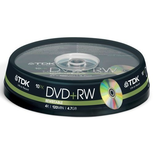 TDK DVD+RW 4.7GB 4x 10-pack